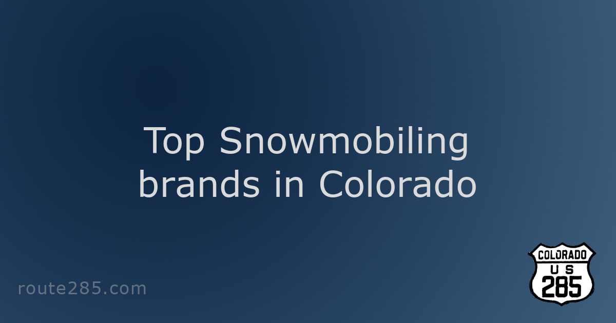 Top Snowmobiling brands in Colorado