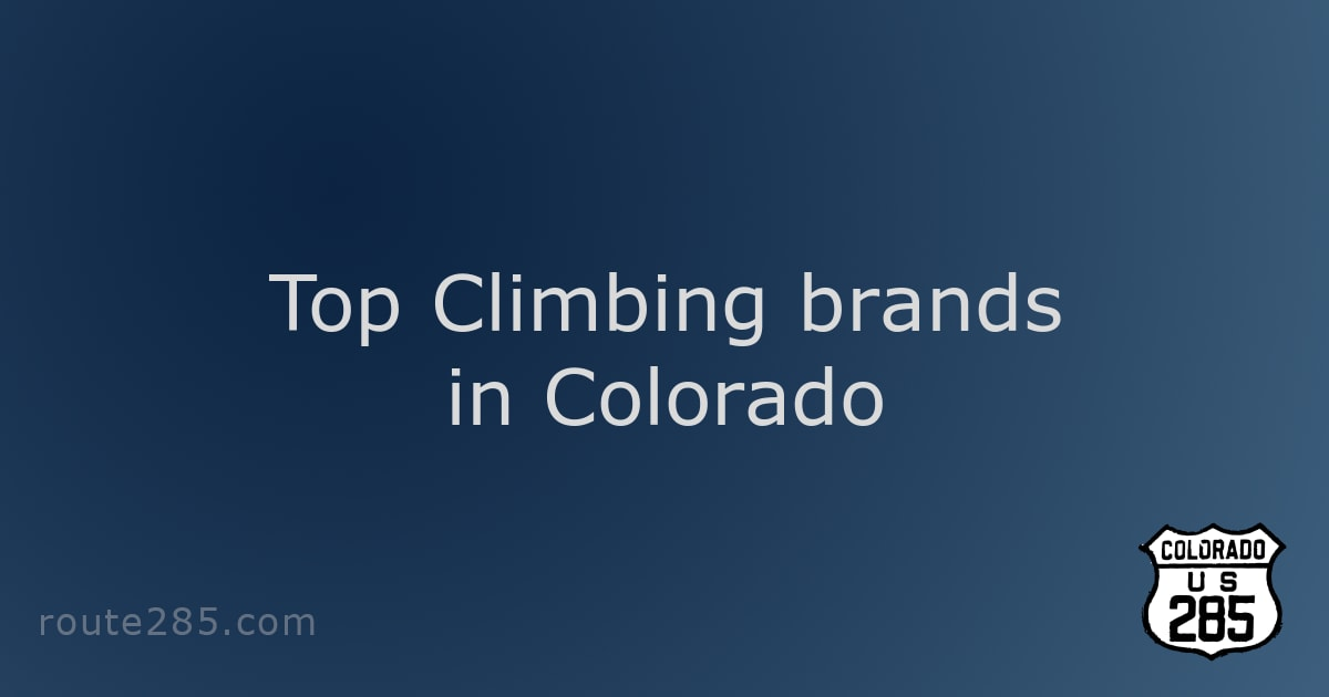 Top Climbing brands in Colorado